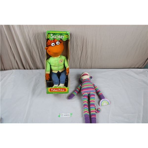 1978 Fisher Price Scooter Muppet + Sock Monkey