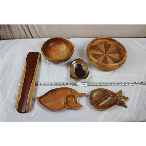 Large Wooden Bowls and serving Trays