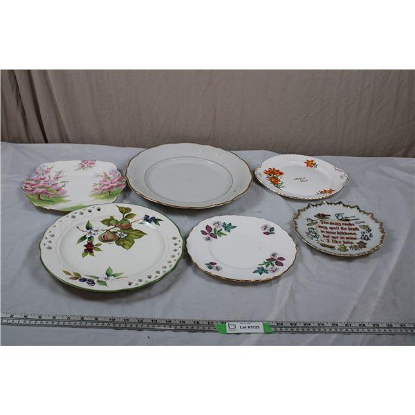 "Serving Plates - Royal Albert ""Bossom Time"" + Melfort SK Plate"
