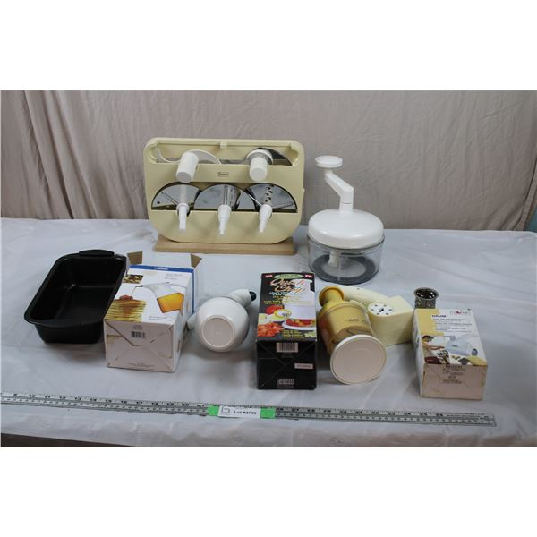Food Processor, Quick Chop, Syrup Dispenser, Cheese Grater, Bread Pan