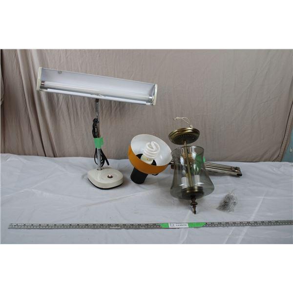 Desk Lamp, Extending Arm Lamp, Chandalier Light