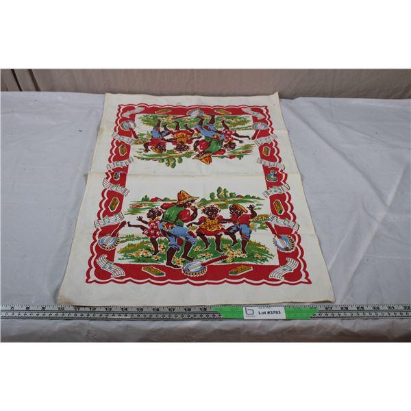 "Black American Small Tablecloth - 27.5""x18"""