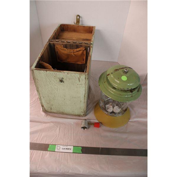 Coleman Lantern In Wooden Box