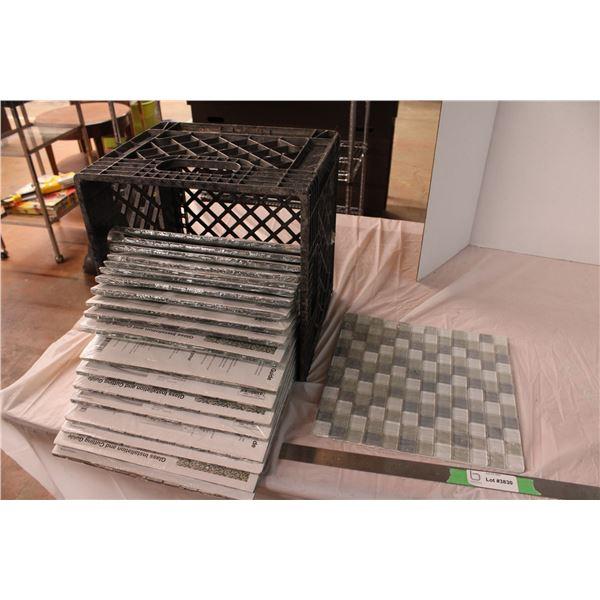 Glass Tiles (20 Tiles Total)