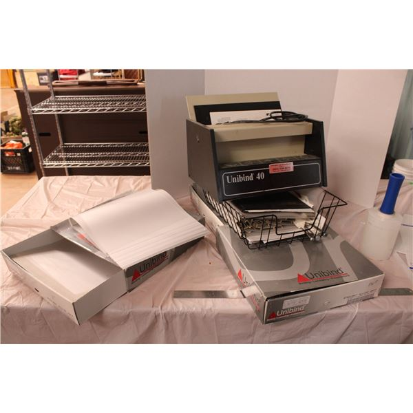 Unibinder 3 Boxes and Misc Binders File Folders