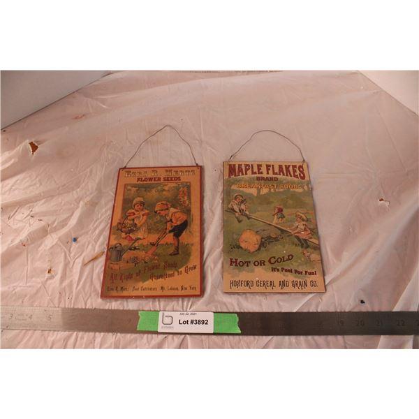 2 Small Signs (Hard Cardboard)