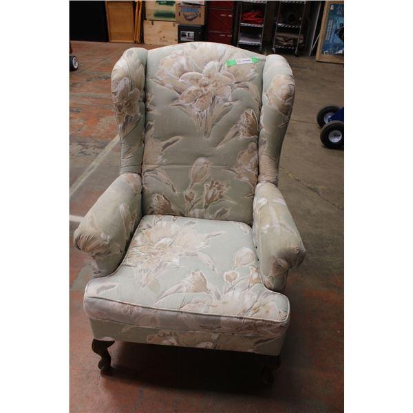 Flowered Arm Chair