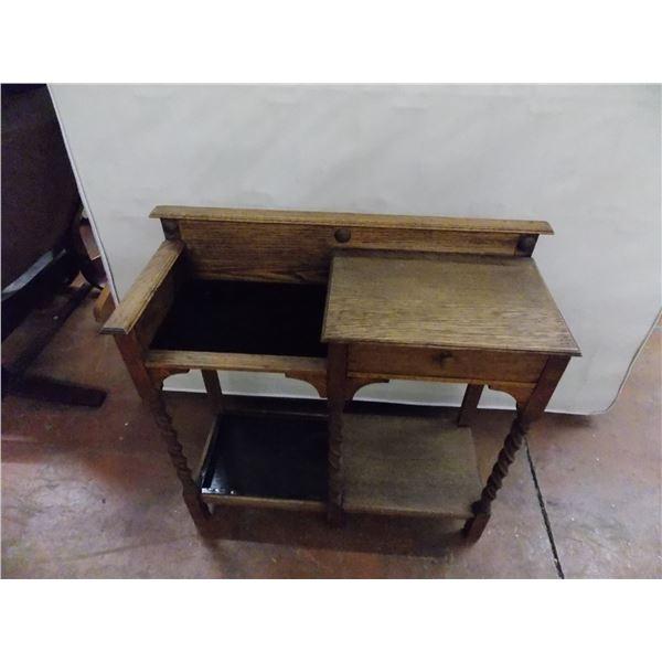 "Small Nightstand / Sewing machine desk - 1 drawer - 31x12x30"""