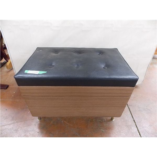 "Vinyl Ottoman, Storage Box/Chest style - 29x17x20"""