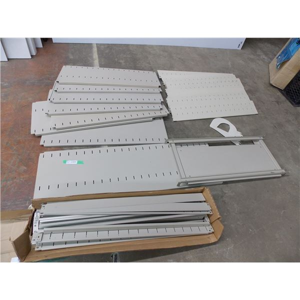 Metal Racking/Shelving with slideout tray