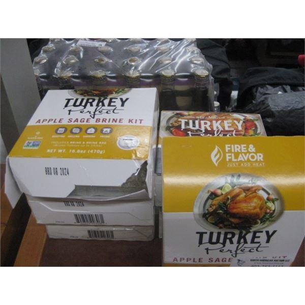 6PC FIRE AND FLAVOR TURKEY PERFECT APPLE SAGE BRINE KIT