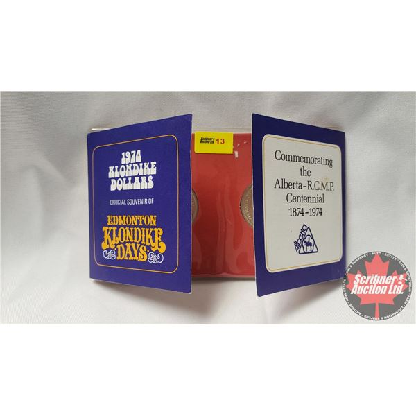 1974 Klondike Dollars - Official Souvenir Commemorating the Alberta - R.C.M.P. Centennial 1874-1974