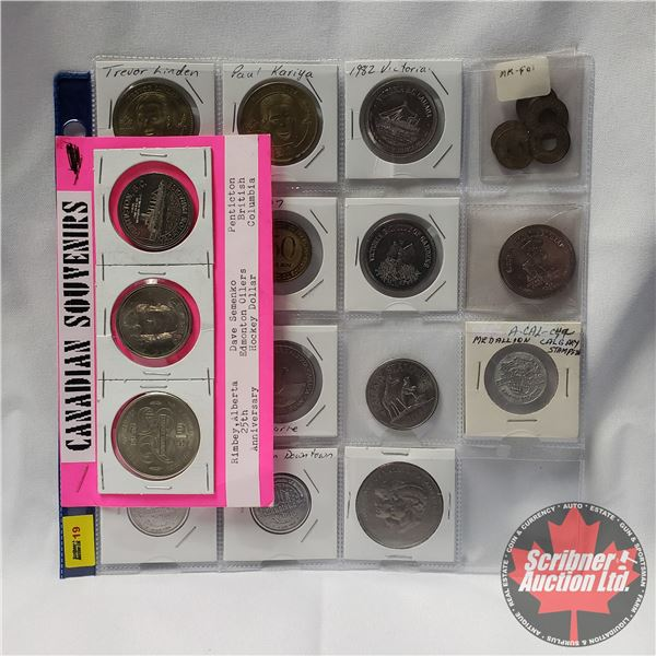 Large Collection of Tokens/Medallions - SEE PICS! (Incl: Loaned for Amusement Only - No Cash Value T
