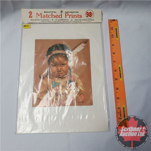 Decorator 2 Matched Prints (Unopened) (See Pics)