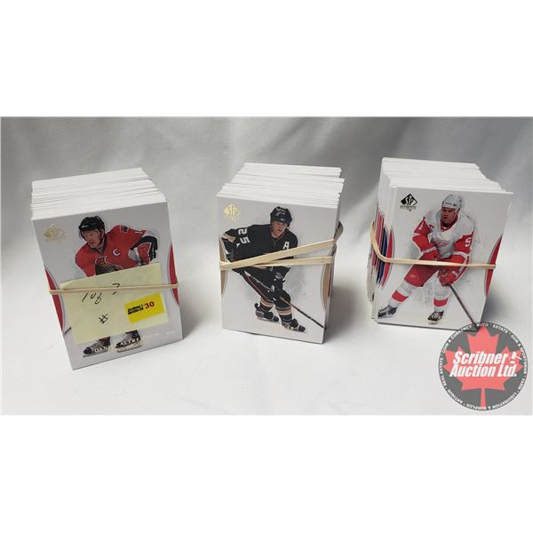 Hockey Cards: Upper Deck SP Authentic Series 2007-08 (3 Bundles = approx 300+Cards) SEE PICS!