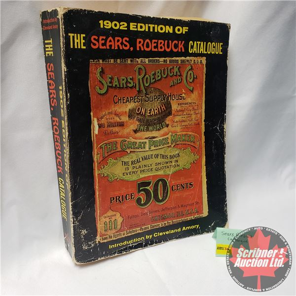 """1969 Reproduction of the 1902 Edition of the Sears, Roebuck Catalogue (10-3/4""""H x 8-1/2""""W x 1-5/8""""D)"""