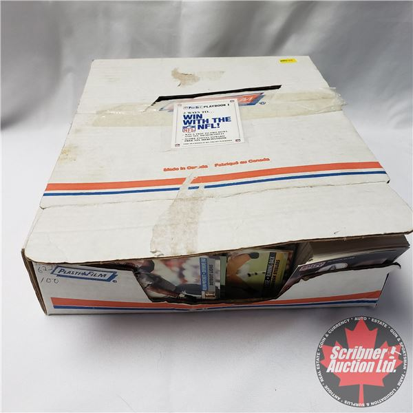 Large Collection of NFL Cards in Box ! Approx 1800+ Cards! (Box= 13-1/2 H x 10-1/2 W x 4 D) SEE PICS