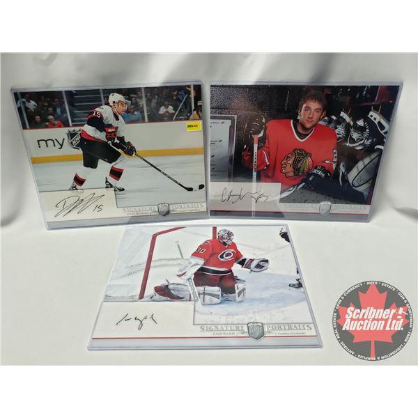 "Upper Deck Hockey Card ""Be A Player"" Player Signature Portraits (3 Cards) : Cam Ward, Cam Barker & D"