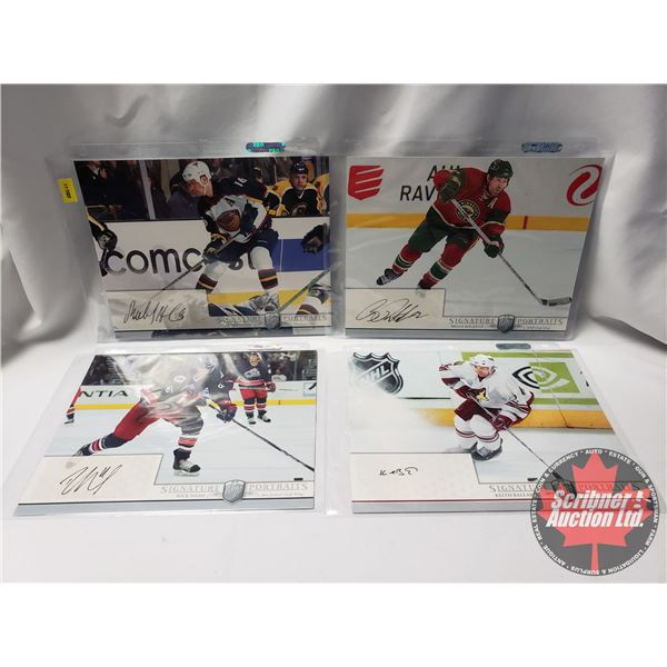 Upper Deck Hockey Card  Be A Player  Player Signature Portraits (4 Cards) : Bobby Holik, Brian Rolst