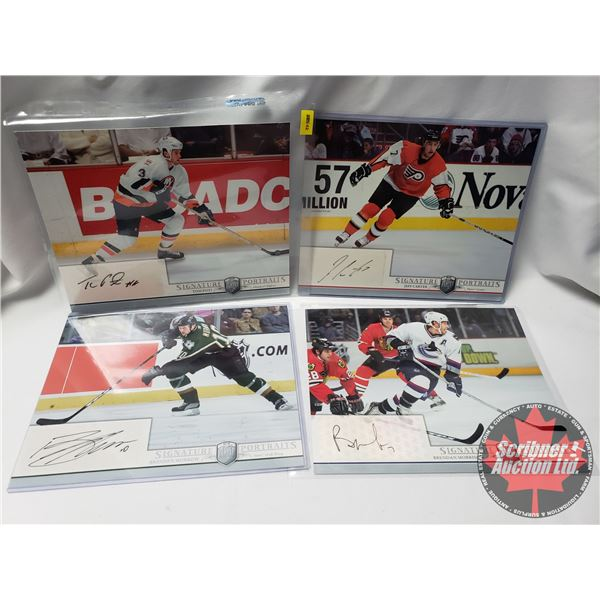 """Upper Deck Hockey Card """"Be A Player"""" Player Signature Portraits (4 Cards) : Jeff Carter, Brenden Mor"""