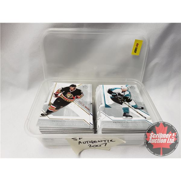 Hockey Cards SP Authentic 2006-07 Hockey Cards in Container (approx. 100+) (SEE PICS!) (Container =