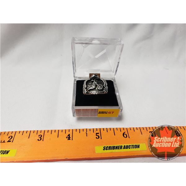 Motorcycle Ring (Size 9W) in Case (SEE PICS!)