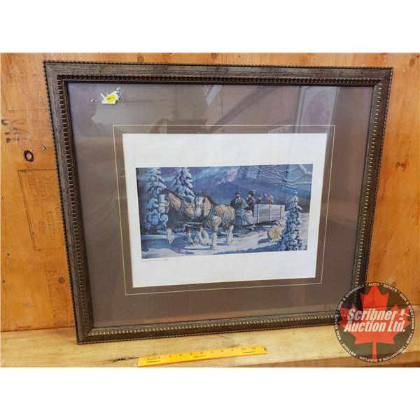 """Framed/Matted Print of """"A Child's Christmas, Early 1900's"""" (26"""" x 30"""")"""