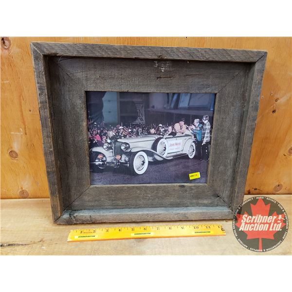 Framed Picture of John Wayne in Christmas Parade 1974