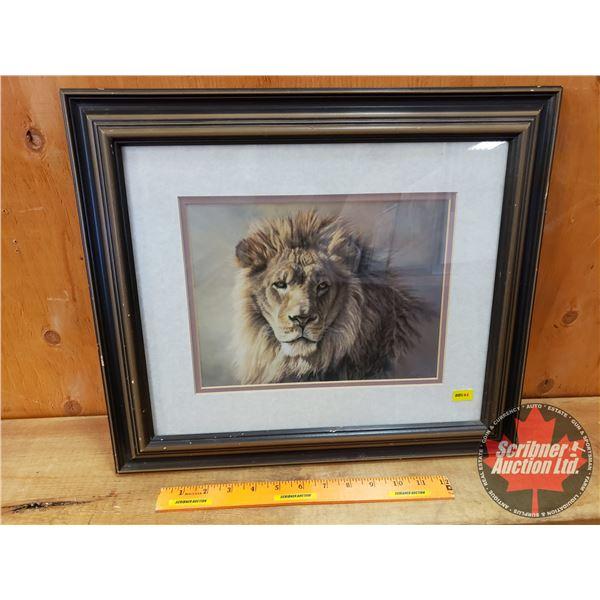 "Framed/Matted ""Lion"" Print by ""Kalon"" (15"" x 18"")"