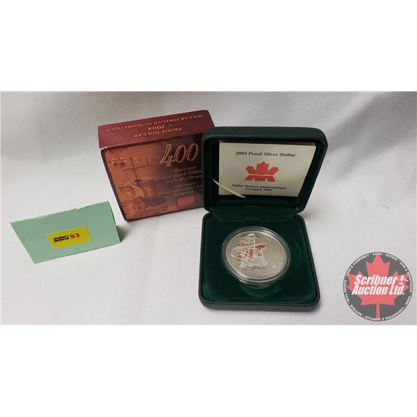 RCM 2004 Proof Dollar 400th Anniversary First French Settlement of North America