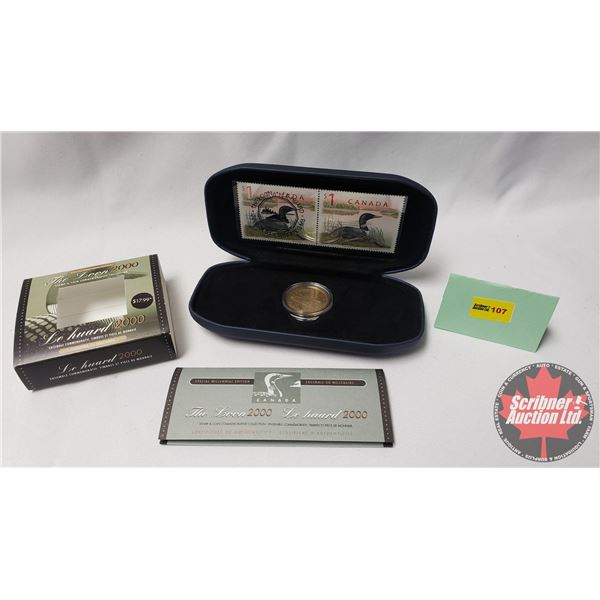 """Canada Post Special Millennial Edition """"The Loon"""" 2000 ~ Stamp & Coin Commemorative Collection"""