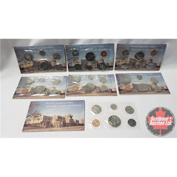 RCM 1975 Uncirculated Proof Like Year Sets - Collection of 7 Sets !
