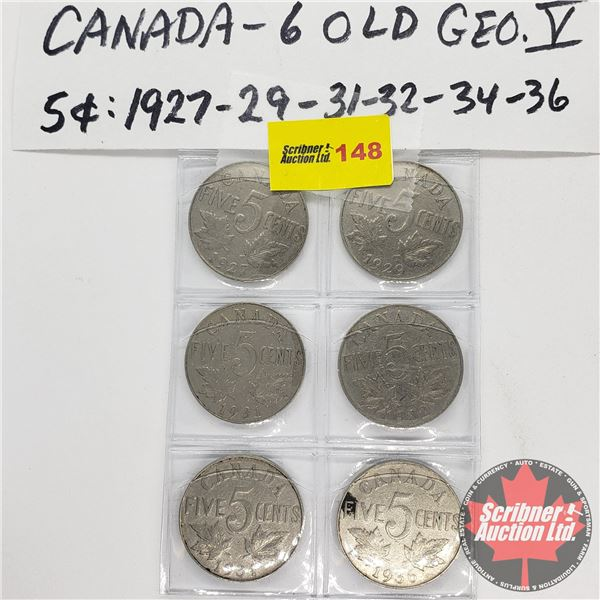 Canada Five Cent (6): 1927; 1929; 1931; 1932; 1934; 1936
