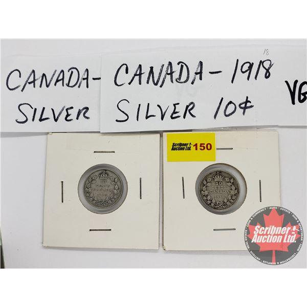 Canada Ten Cent (2): 1918; 1920
