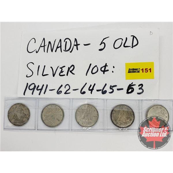 Canada Ten Cent (5): 1941; 1962; 1964; 1965; 1963