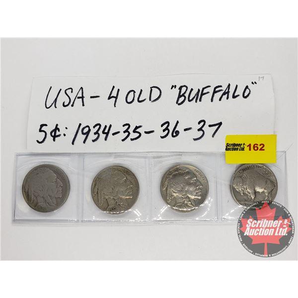 USA Buffalo Nickels (4): 1934; 1935; 1936; 1937