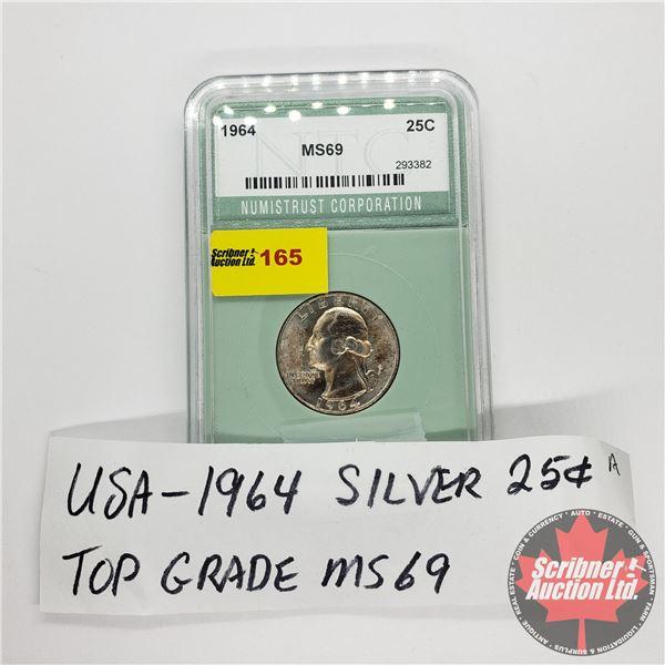USA Quarter 1964 (NTC: Grade MS69)