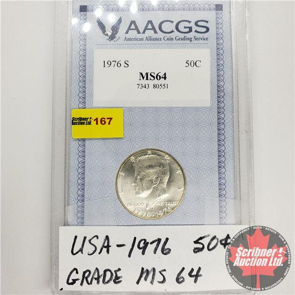 USA Half Dollar 1976 (AACGS: Grade MS64)