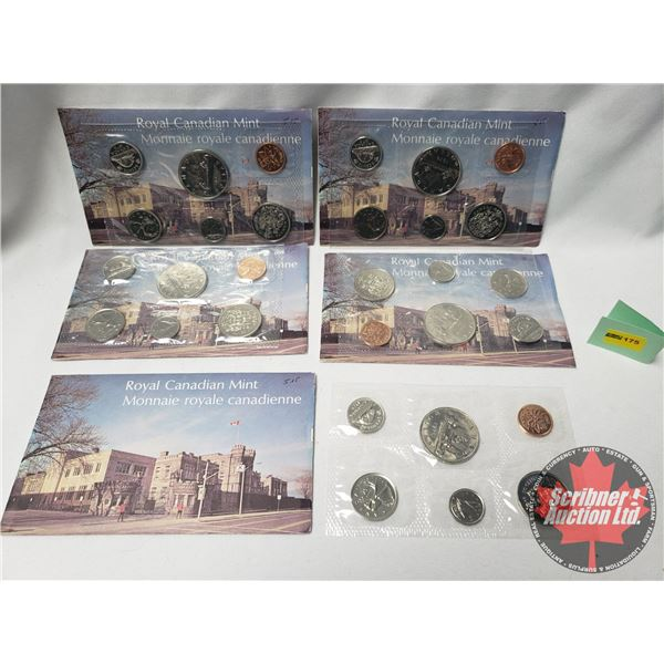 RCM 1976 Uncirculated Proof Like Year Sets - Collection of 5 Sets !
