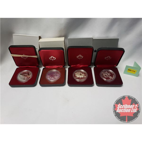 RCM Proof Dollars in Case ~ Collector Combo 4 Pack: 1679-1979 Griffon; 1980 Canada; 1981 Canada; 198