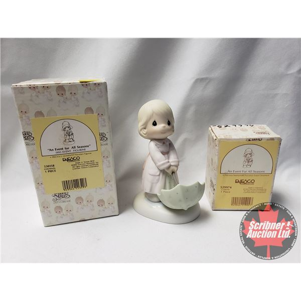 """Precious Moments:  """"An Event For All Seasons"""" 1993 Event Ornament (Large) AND """"The Sun Is Always Shi"""