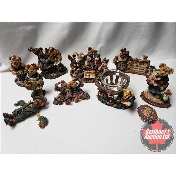 Tray Lot (10):  Boyd's Bears & Friends The Bearstone Collection