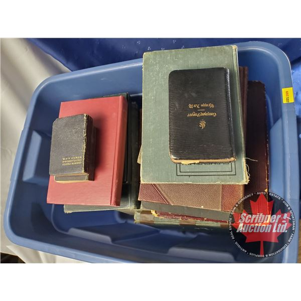 Tote Lot of Antique Books:  45 Hardcovers & 12 Softcovers (Religious, School, and Educational) (SEE.