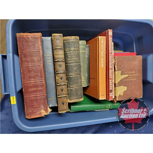 Tote Lot of Antique Books (18):  Variety Hardcovers (SEE PICS!)