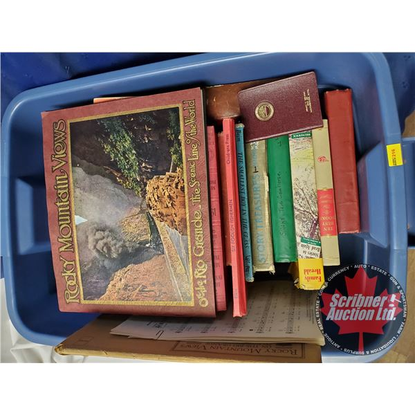 Tote Lot of Antique Books:  Variety 21 Hardcovers & 5 Softcovers (SEE PICS!)