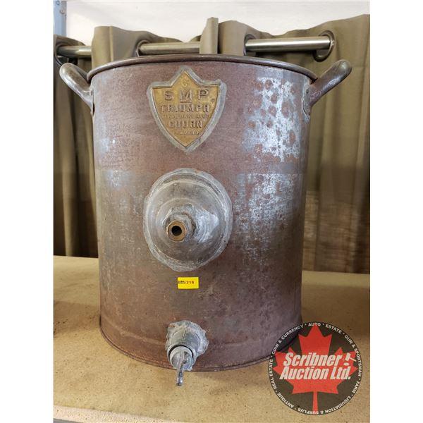 SMP Triumph Metal Butter Churn:  Circa 1900 (w/Spigot only)