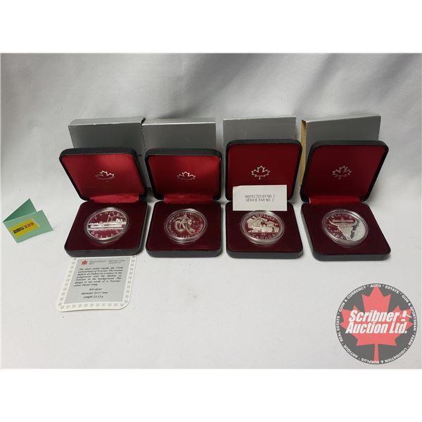 RCM Proof Dollars in Case ~ Collector Combo 4 Pack: 1981 Canada; 1882-1982 Regina; 1983 Edmonton; 18