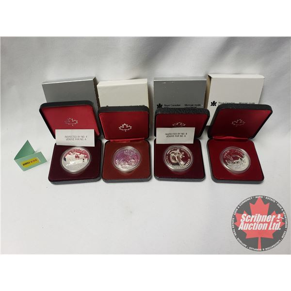 RCM Proof Dollars in Case ~ Collector Combo 4 Pack: 1981 Canada; 1983 Edmonton; 1980 Canada; 1679-19