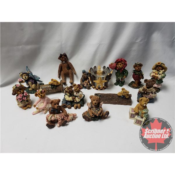 Tray Lot (15):  Boyd's Bears & Friends The Bearstone Collection
