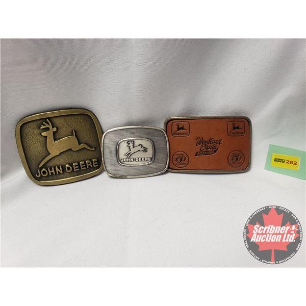 John Deere Belt Buckles - Variety (3): See Pics!